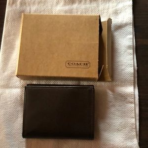 Vintage Coach Men's Tri Fold Wallet